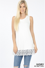 Lace bottom tank Sizes S-XL
