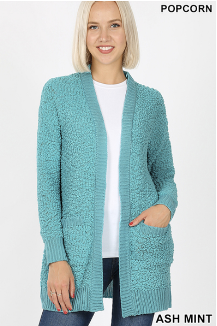 Popcorn Cardigan sizes S-XL