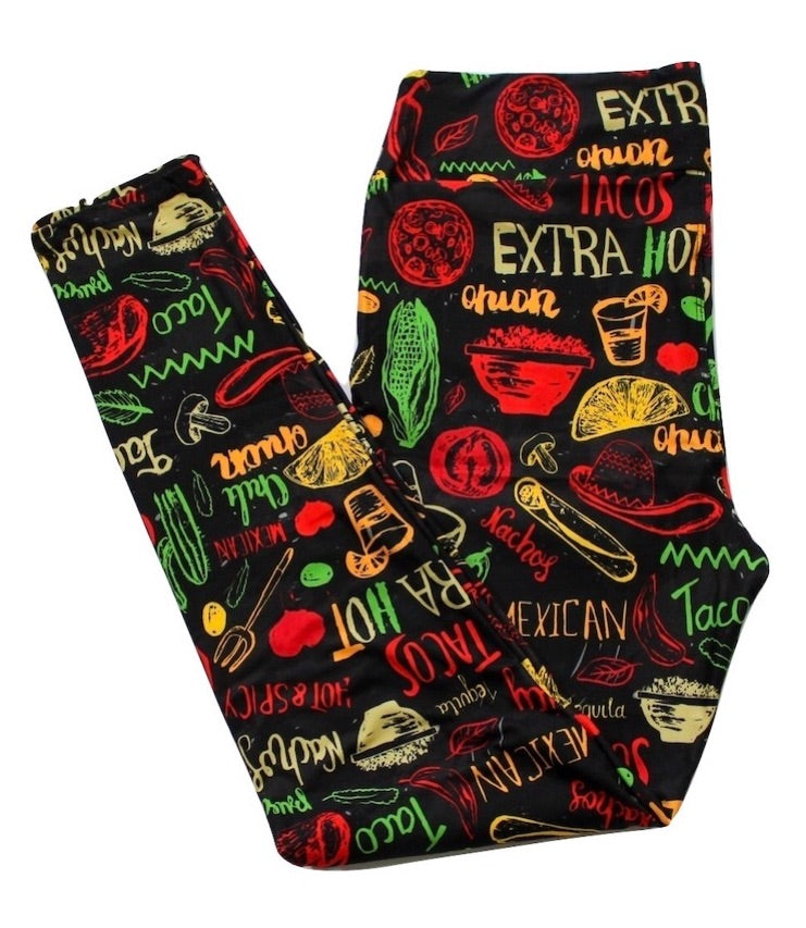 Taco Obsessed full length legging NO pockets