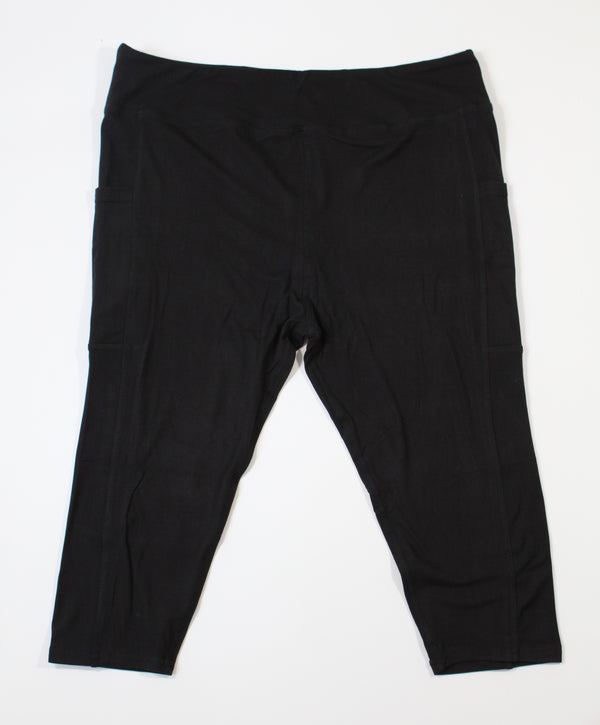 Magic Pocket Legging - Black Capri