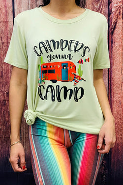 Campers Gonna Camp Graphic Tee - DLH7147