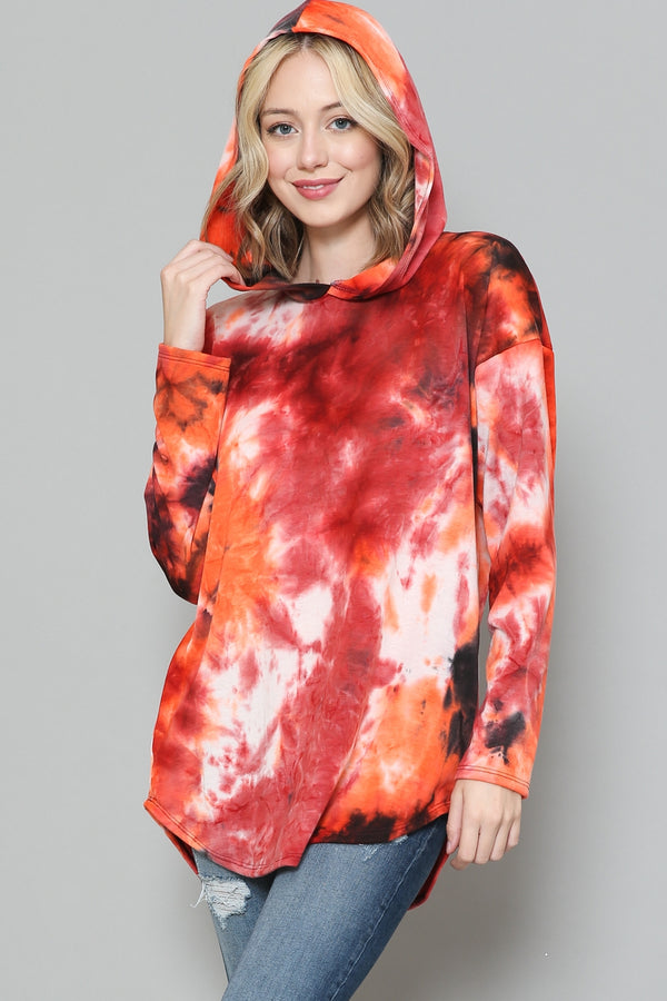 Red Multi Tie Dye Sweatshirt