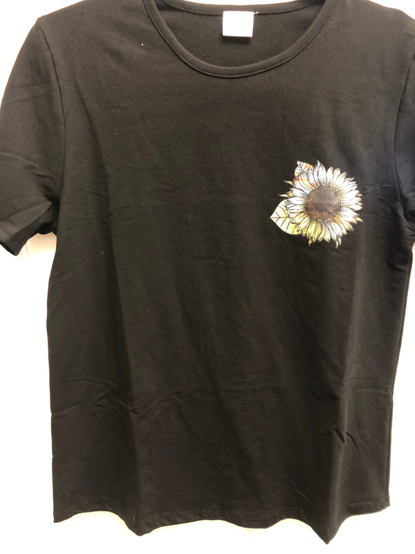 Black You are my sunshine tee