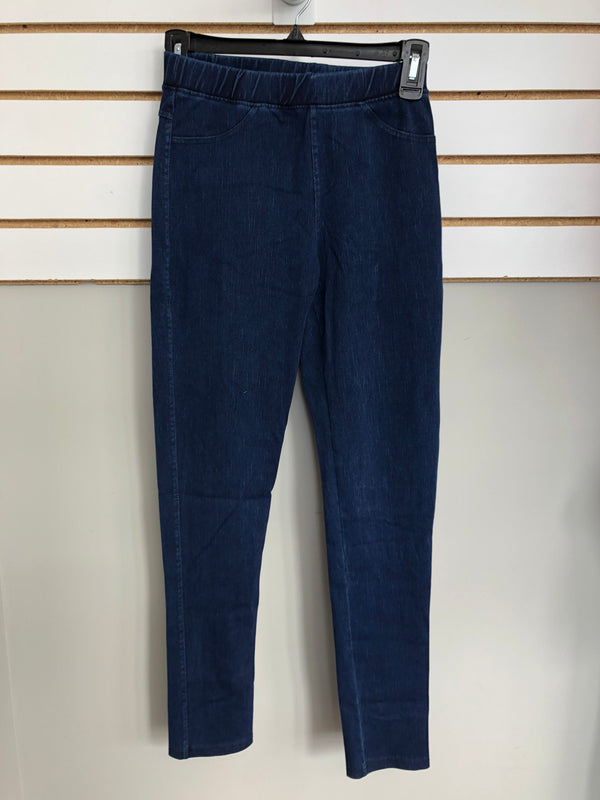 Blue Stitch Jeggings with No Distress
