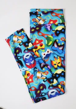 Superhero masks full length legging