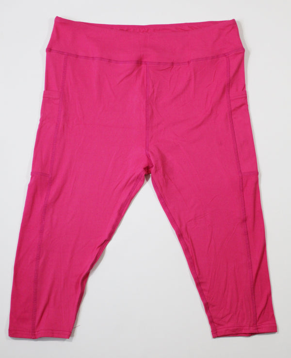 Magic Pocket Legging - Hot Pink Capri