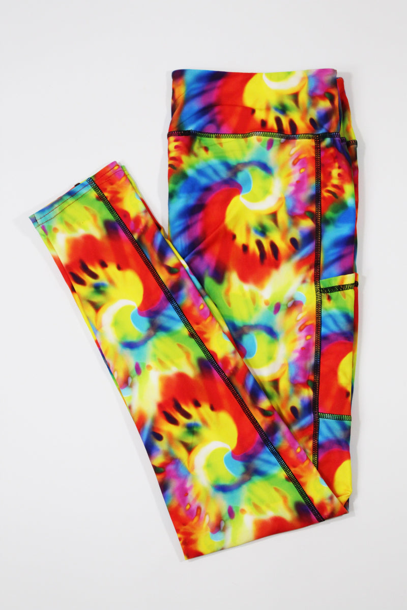 Tie Dye full length legging with pockets