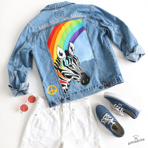 hand-painted jacket