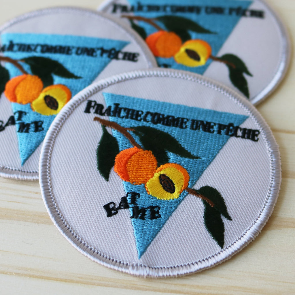 "Patch - La pimbêche: Feeling peachy today? Spread your good energy and confidence with this awesome ""fresh like a peach"" patch."