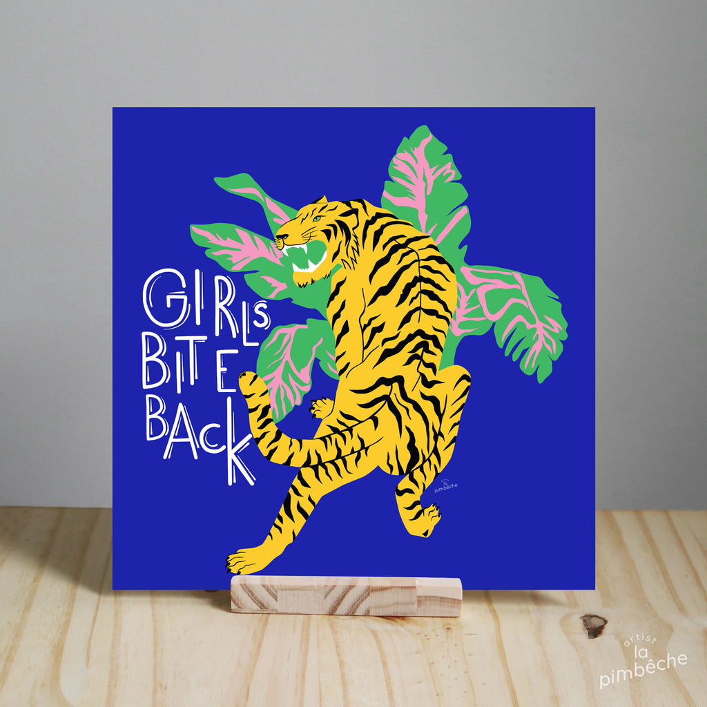 La Pimbêche feminist artist from Montreal - Girls Bite Back tiger