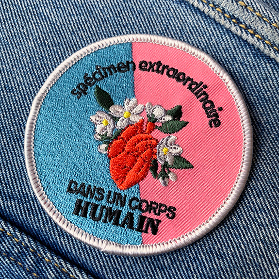 Patch - La pimbêche: No matter how you define yourself, we are all extraordinary species in a human body. This patch will remind you to embrace your gift and let it bloom to its full potential.