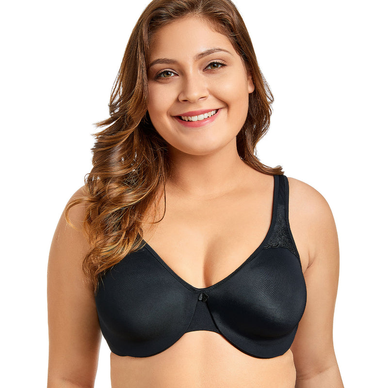 Women's Seamless Bra Plus Size Smooth Full Figure Underwire Comfortable Minimizer Bras Brassiere