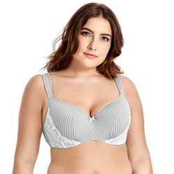 Women's Lightly Lined Underwire Smooth Full Figure Balconette Bra