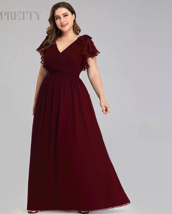 A-line Chiffon Plus Size Mother Of The Bride Dresses