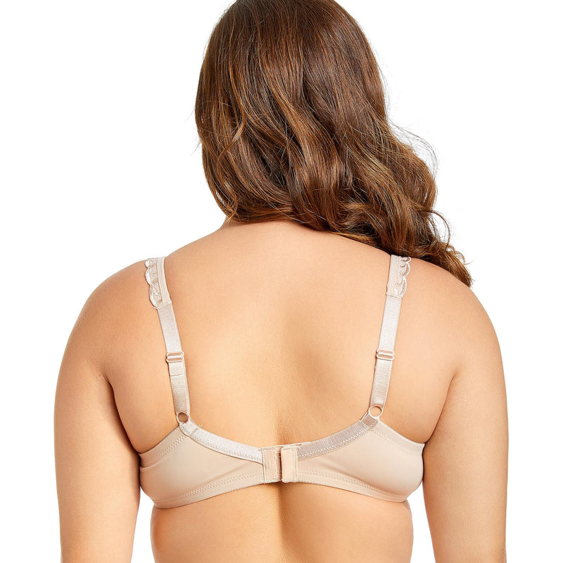 Women's Non-padded Full Coverage Underwire Minimizer Embroidered Bra