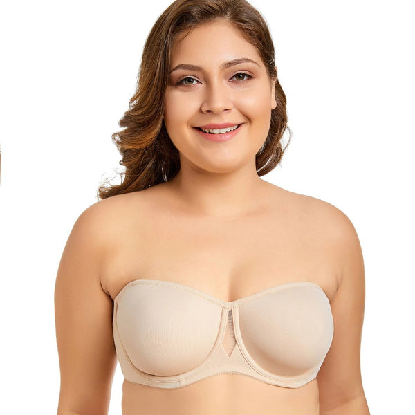 Women's Non Padded Smooth Convertible Strapless Underwire Bra