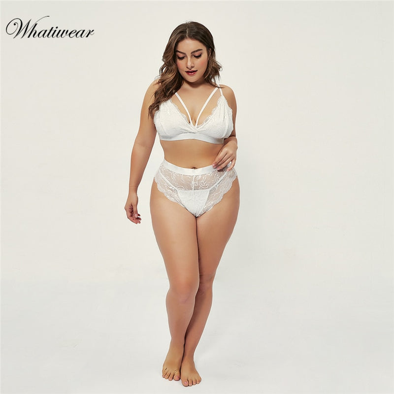 Seamless Bandage Plus Size Women's Bra and Panty Sets