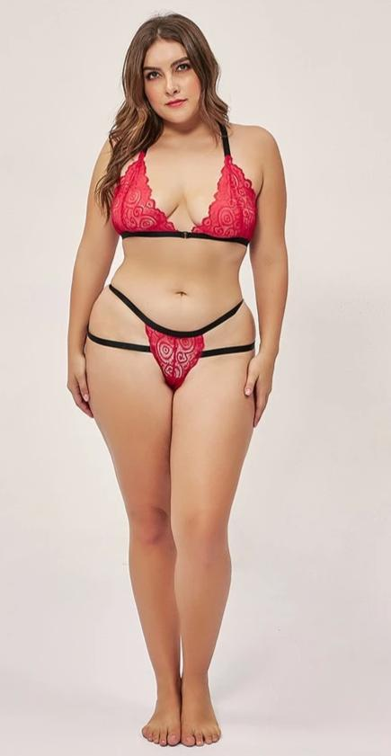 Plus Size Sexy lingerie Women's Bra and Panty Sets