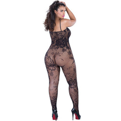 Plus Size Women Lingerie-Female Fishnet Bodystocking