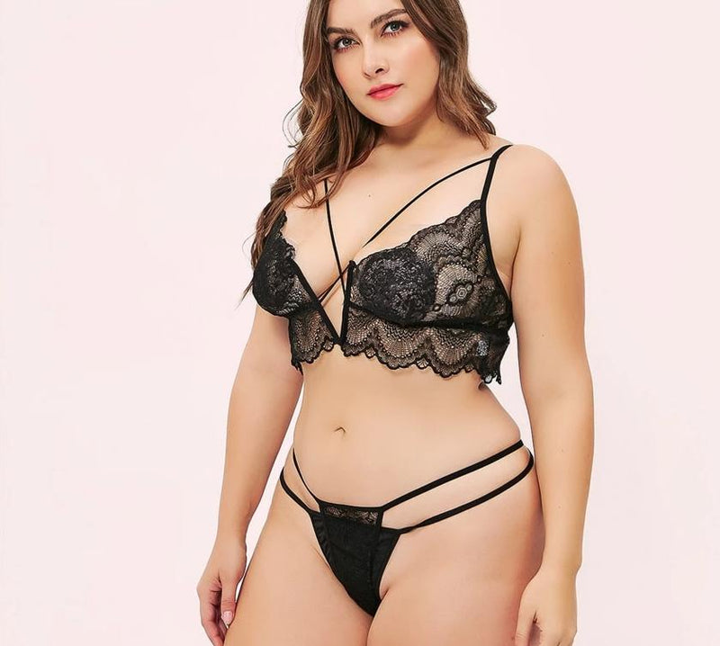 Plus size lingerie Women's Bra and Panty Sets
