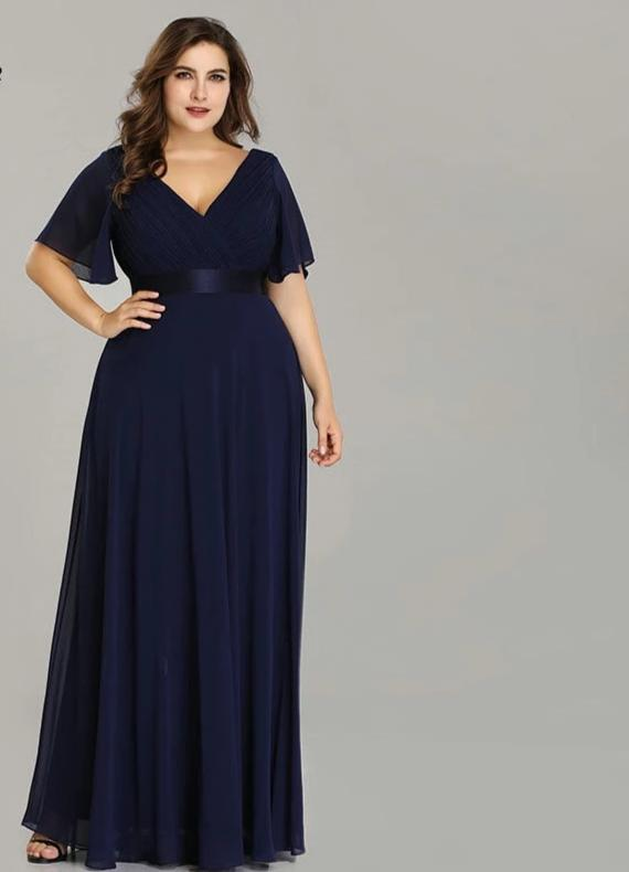 New Beach Long Elegant V Neck Chiffon Plus Size Dresses For Women 4xl 5xl 6xl