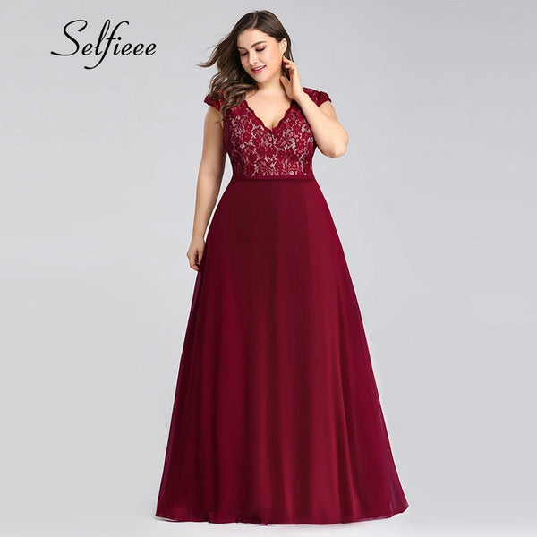 Elegant A Line V Neck Sleeveless Long Boho Plus Size Dresses For Women