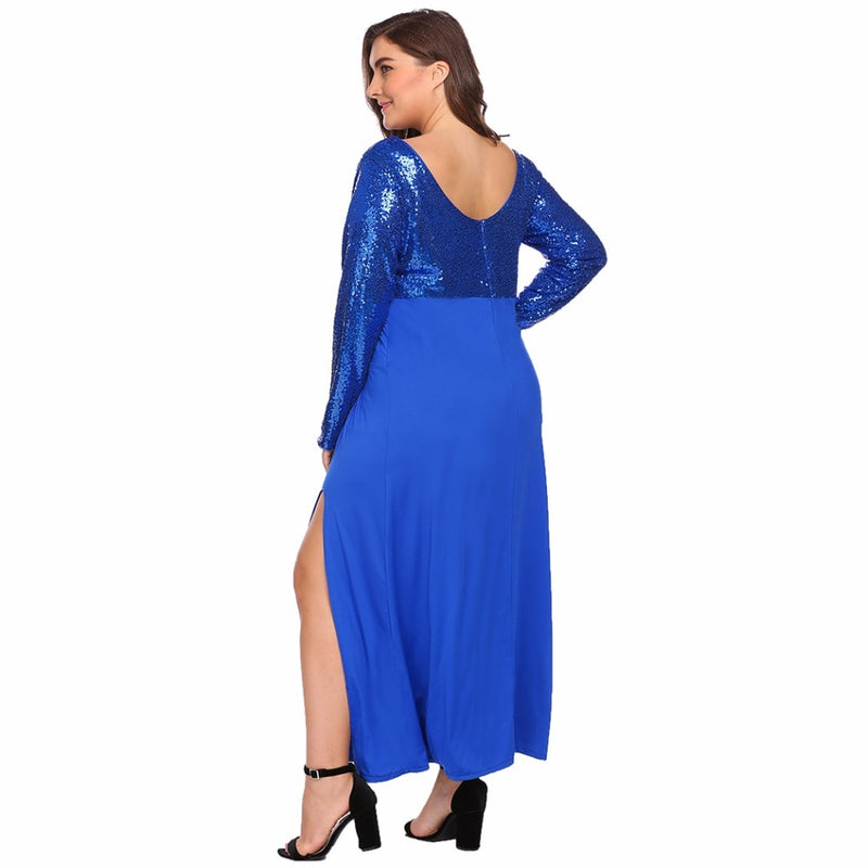 Women's Sequined Plus Size  Dresses