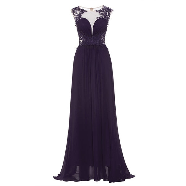 Dark royal blue plus size evening dress