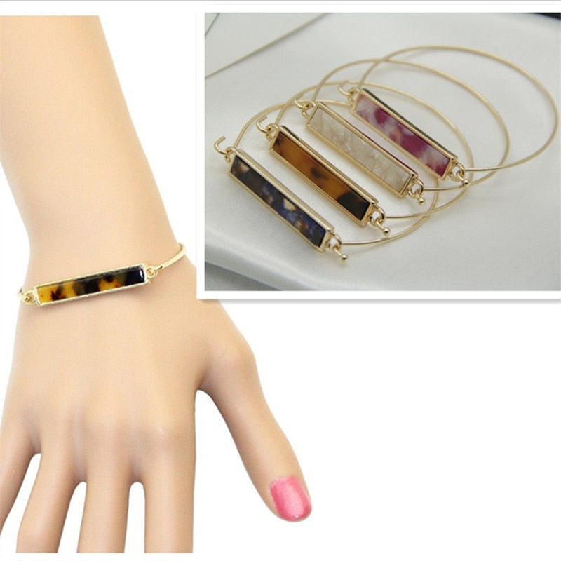 Fashion new style Texture contracted leopard print bracelet