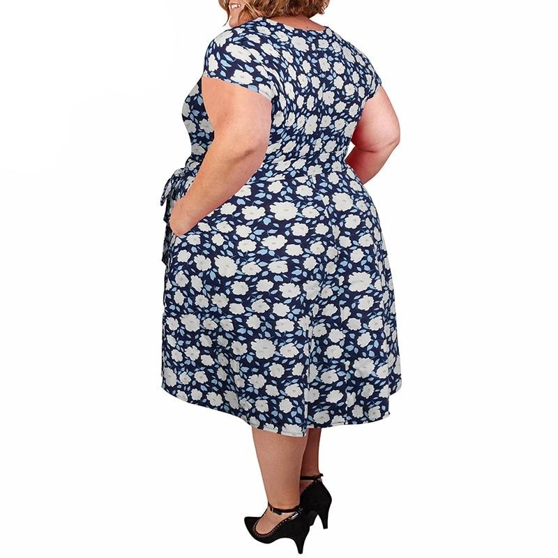 Vintage 1950s Swing Dress With Pockets 7XL 8XL 9XL