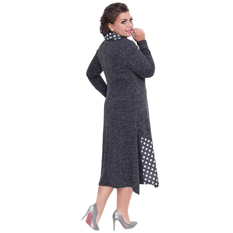 Female Long Loose Winter Dress 5XL 6XL