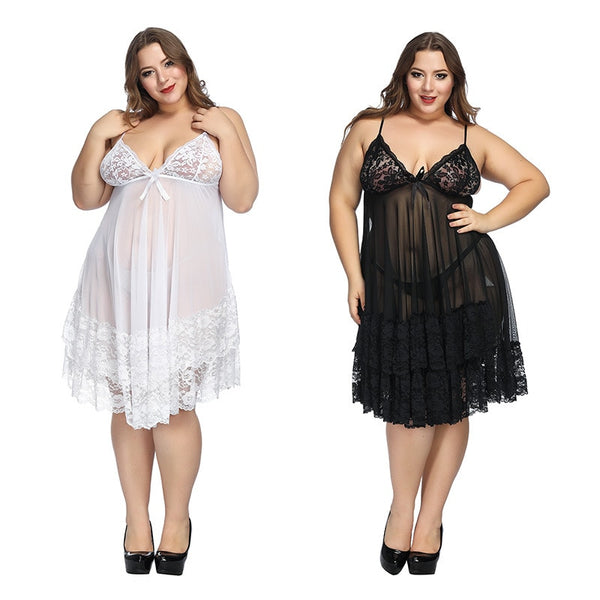 Plus size 6xl lingerie sleepwear erotic sling Homewear