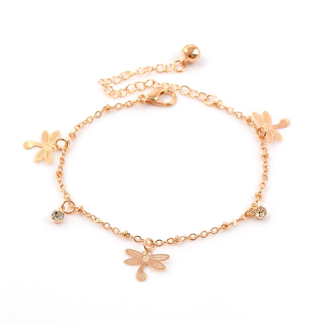 Austrian Crystal Heart Chain Bracelet For Women