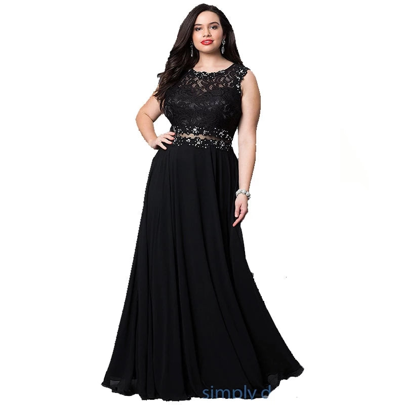 Women's Black Grey Lace Party Dress