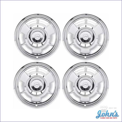 14 Full Wheel Cover With Bowtie On Center- Set Of 4 F1