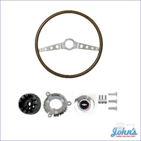 2-Spoke Wood Steering Wheel Kit A X