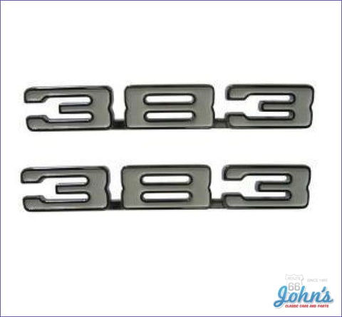 383 Fender Emblems- Pair X F1
