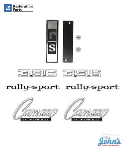 396 Rally Sport Emblem Kit Gm Licensed Reproduction F1