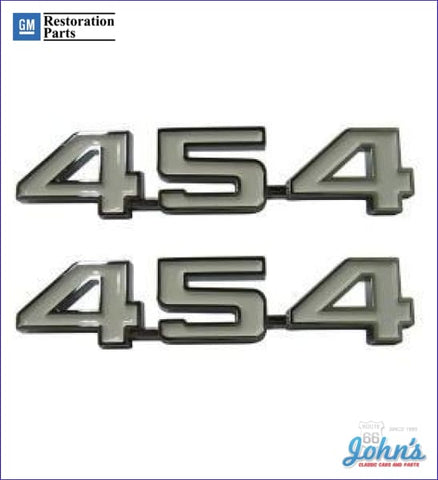 454 Fender Emblems- Pair Gm Licensed Reproduction X F1