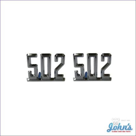 502 Fender Emblems- Pair A