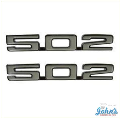 502 Fender Emblems- Pair X F1