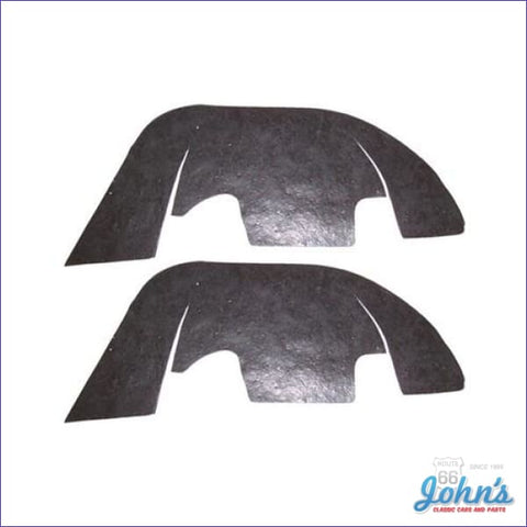A-Arm Dust Shields For Cars With Plastic Inner Fenders Pair. Includes Staples. A