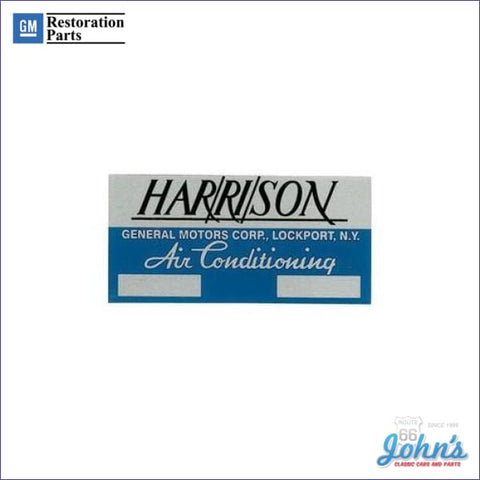 Ac Evaporator Box Decal Harrison A X