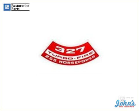 Air Cleaner Decal 327 Turbo-Fire 255Hp A X