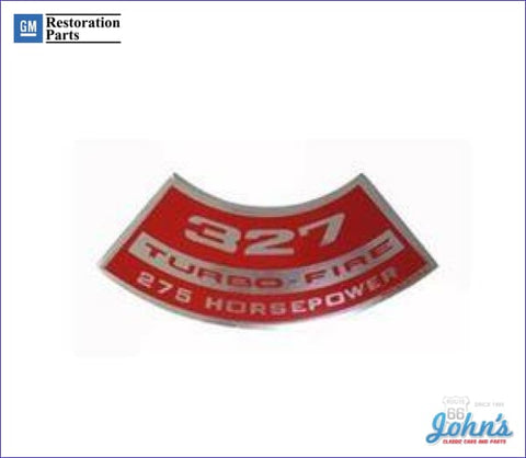 Air Cleaner Decal 327 Turbo-Fire 275Hp A F1 X