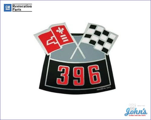 Air Cleaner Decal 396 Cross Flags A F2 X F1
