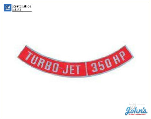 Air Cleaner Decal Turbo-Jet 350Hp A F2 F1 X