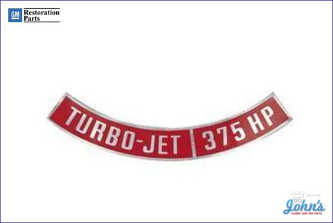 Air Cleaner Decal Turbo-Jet 375Hp A F2 F1 X