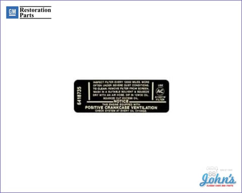 Air Cleaner Service Instructions Decal 194 230 A X