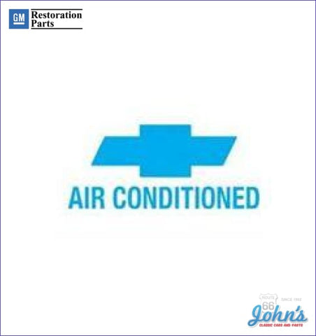 Air Conditioned Window Decal A X F1